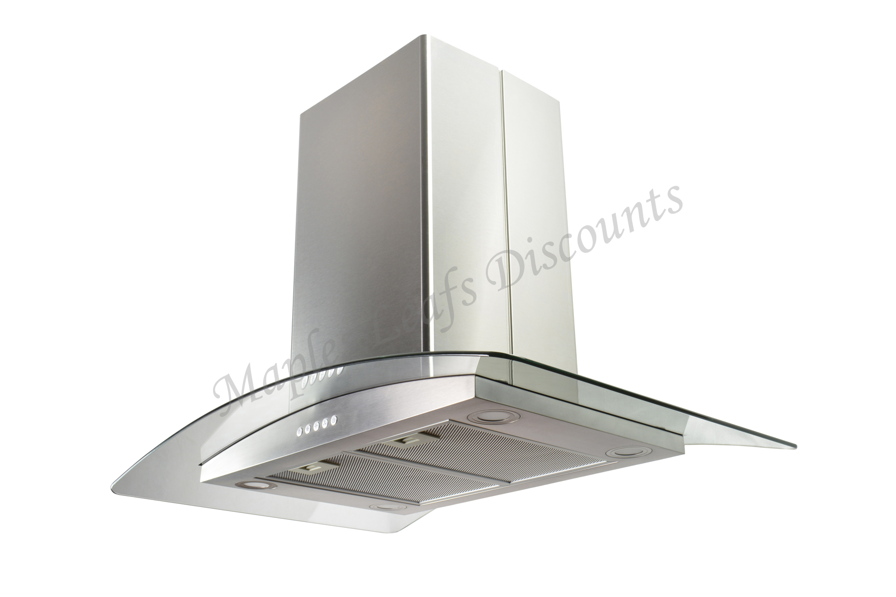 "Stainless Steel 36"" Island Range Hood 3 Speeds Kitchen Fan"