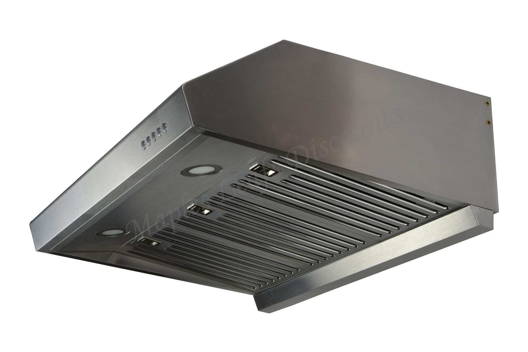 stainless steel 30 range hood under cabinet kitchen dual