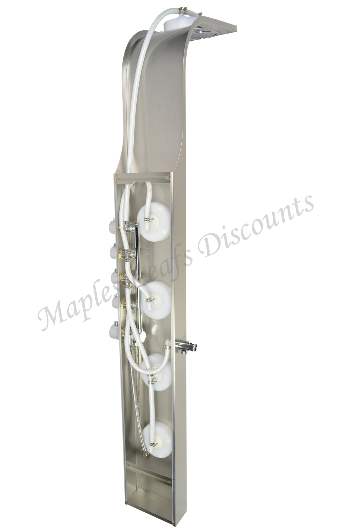 Stainless steel shower tower head thermostatic control for Shower tower with body jets